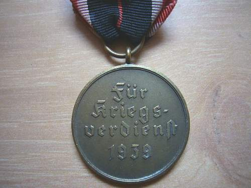 Kriegsverdienstmedaille.