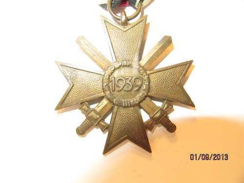Kriegsverdienstkreuz 2.Klasse mit Schwertern:  real or fake