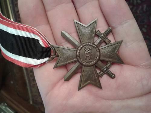 Kriegsverdienstkreuz 2.Klasse mit Schwerten.