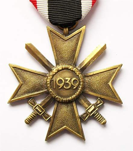 Das Kriegsverdienstkreuz des Jahres 1939.