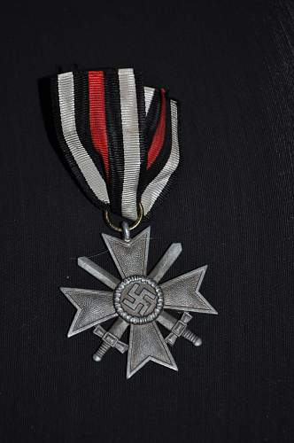 Kriegsverdienstkreuz with a funny ribbon