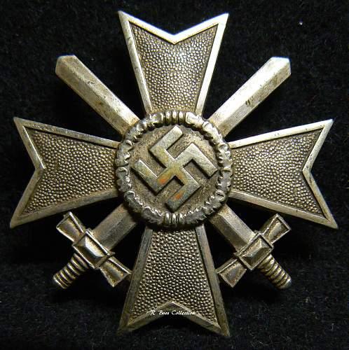 Kriegsverdienstkreuz 1.Klasse mit Schwertern, K & Q, 65