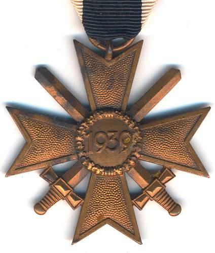 kriegsverdienstkreuz 2.klasse mit schwertern 39