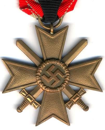 kriegsverdienstkreuz 2.klasse mit schwertern  100