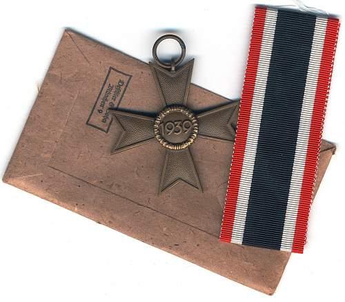 kriegsverdienstkreuz 2. klasse ohne schwerter Deschler