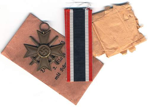 kriegsverdienstkreuz 2. klasse mit schwerter Deschler