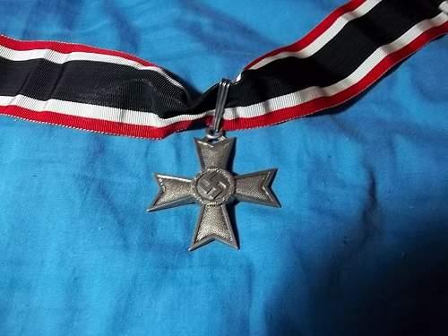 original Ritterkreuz des Kriegsverdienstkreuzes ohne Schwerter?