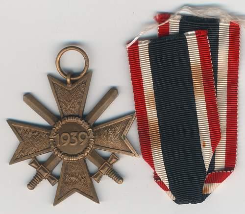 kriegsverdienstkreuz 2. klasse mit schwertern 89