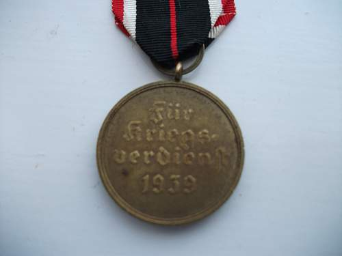 Picked up this Kriegsverdienstmedaille today hope it's real