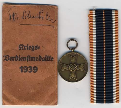 Kriegsverdienstmedaille JFS