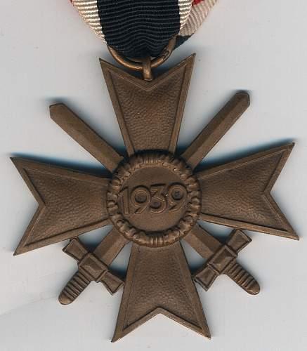 kriegsverdienstkreuz 2. klasse mit schwertern 53