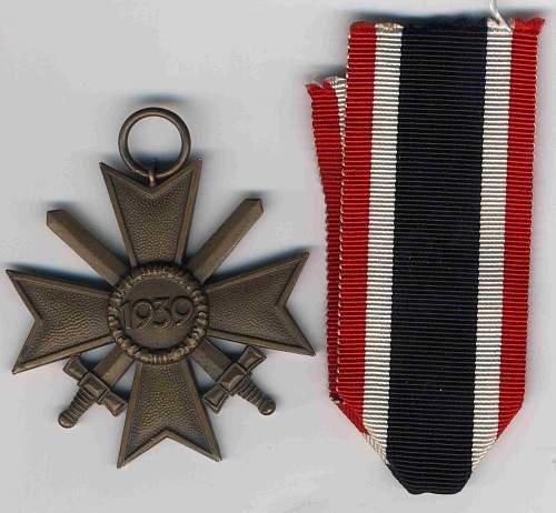 kriegsverdienstkreuz 2. klasse mit schwertern  55