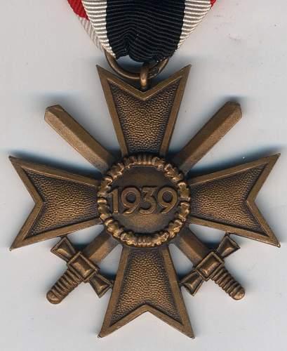 kriegsverdienstkreuz 2. klasse mit schwertern 67