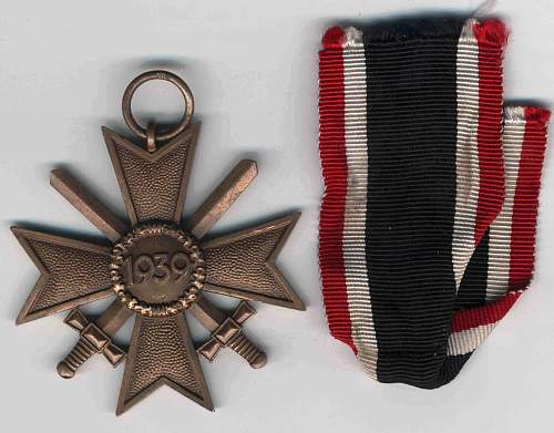 kriegsverdienstkreuz 2. klasse mit schwertern 110