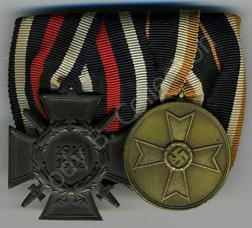 Kriegsverdienstmedaille on Medal Bars-Please Post Them