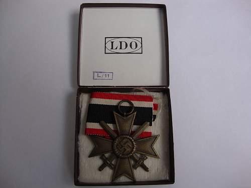 War merit cross 2 cl 1939 with swords(Kriegsverdienst Kreuz).