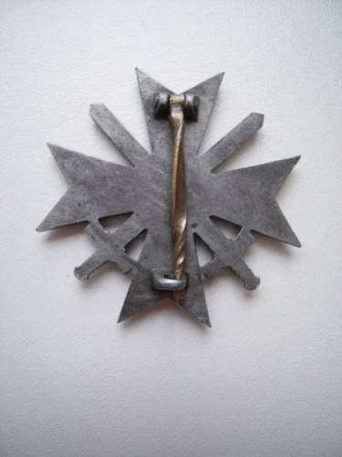 Kriegsverdienstkreuz 1.Klasse mit Schwertern, Real or Fake
