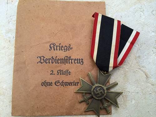 Kriegsverdienstkreuz 2.Klasse another local find authentic?