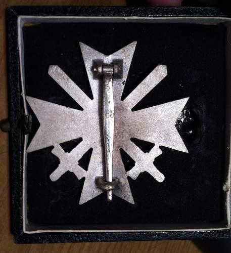 Kriegsverdienstkreuz 1.Klasse mit Schwertern with box