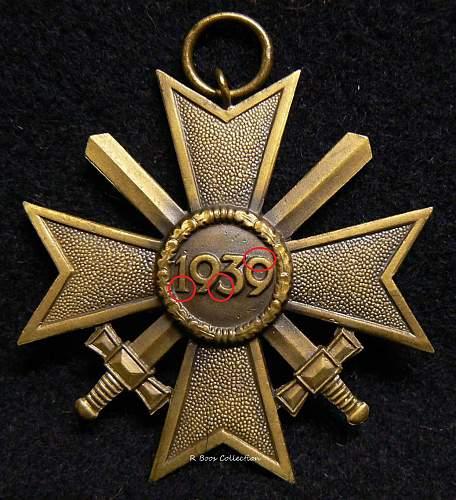 Kriegsverdienstkreuz 2.Klasse mit Schwertern, Frank & Reif