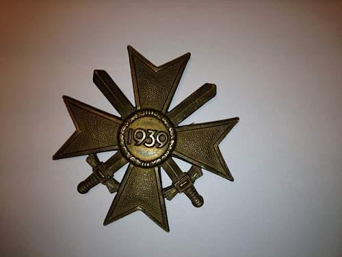 Kriegsverdienstkreuz 2.Klasse mit Schwertern, original?