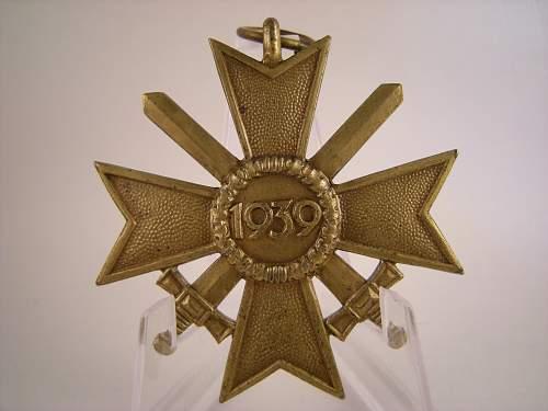 Kriegsverdienstkreuz 2.Klasse mit Schwertern mm 100