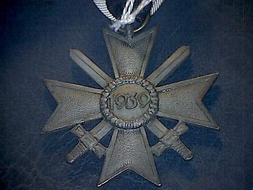Kriegsverdienstkreuz - mismatch
