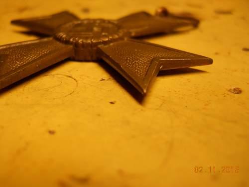 Kriegsverdienstkreuz 2.Klasse ohne Schwerter, marked 37