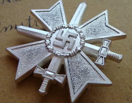 Kriegsverdienstkreuz 1. klasse, real or fake?