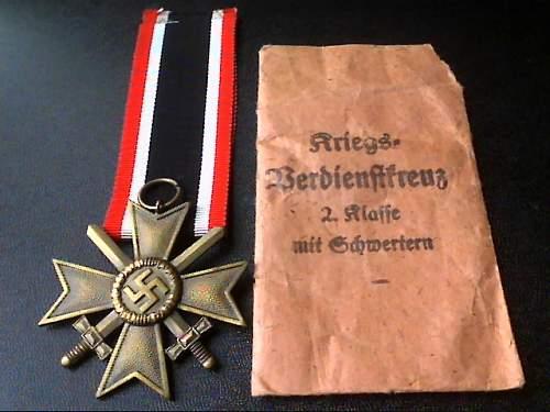 war merit cross/kriegsverdienstkreutz real or fake