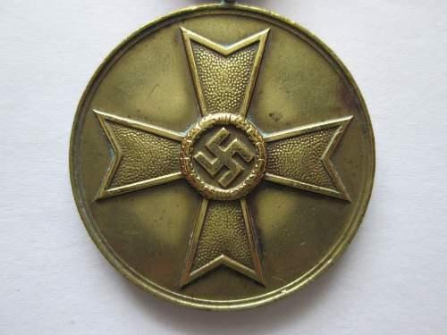 kriegsverdienst medaille ( war merit medal) opinions please