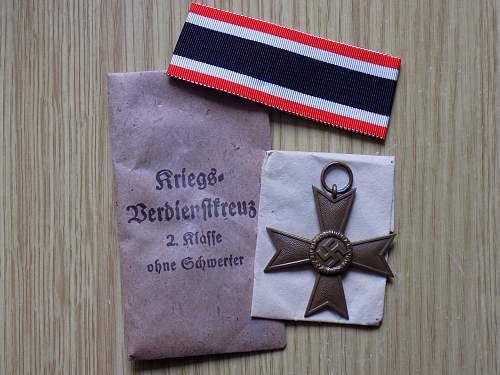 Kriegsverdienstkreuz 2. klasse ohne schwertern