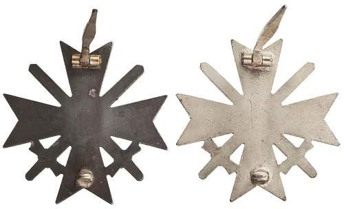 Kriegsverdienstkreuz 1.Klasse mit Schwertern - opinions on the maker?