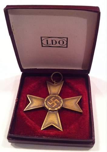 Kriegsverdienstkreuz 2nd Klasse mit Etui