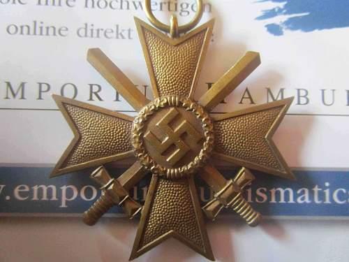 Kriegsverdienstkreuz 2.Klasse mit Schwertern 92