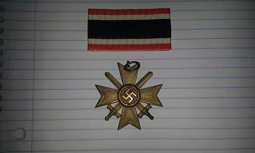 Kriegsverdienstkreuz 2.Klasse for review.