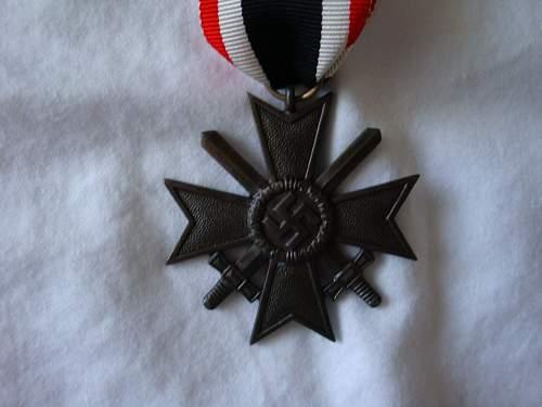 Need opinions on my 2 War Merit Crosses w/ Swords