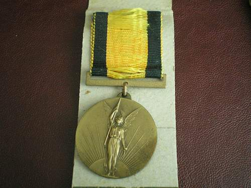 Lithuania's independence medal.