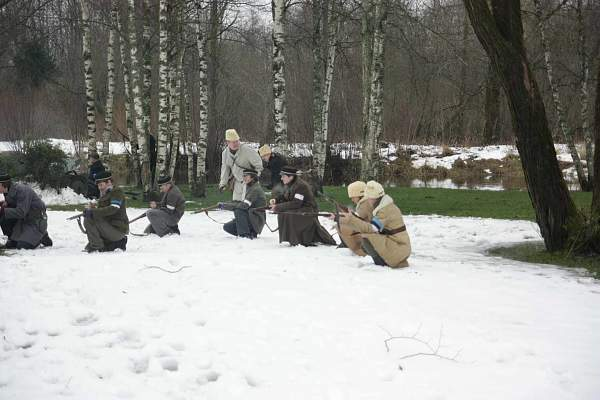 """Re-enact of """"Civil War 1918-1920""""  in Estonia"""