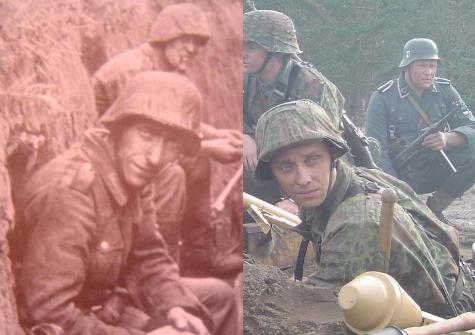 Just a funny picture reenactor vs soldat