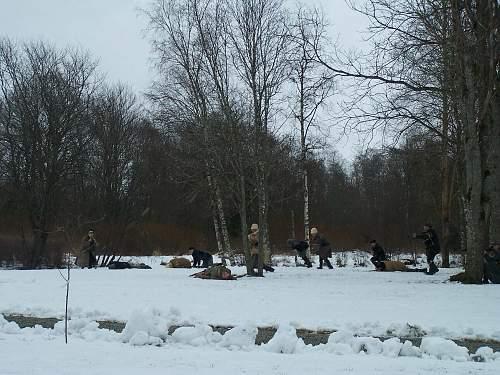 New re-enactment in Estonia. Civil War period (1918-1920)