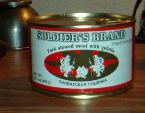 Polish Soldier's Brand canned rations found in local market