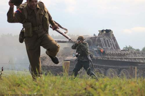 """Re-enactment of """"Operation Overlord"""" in Russia in 2013"""