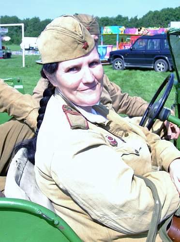 WW2 Russian unit sets up camp at Birchwood festival, Warrington.
