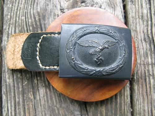 Luftwaffe belt + buckle! Real or not?