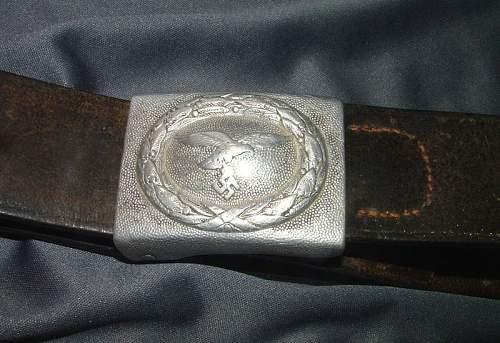 Luftwaffe buckle and belt
