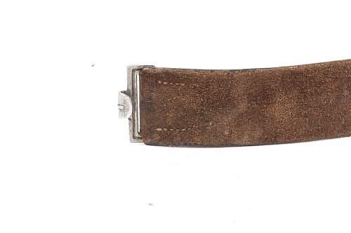 Marked Luftwaffe Flak belt and buckle