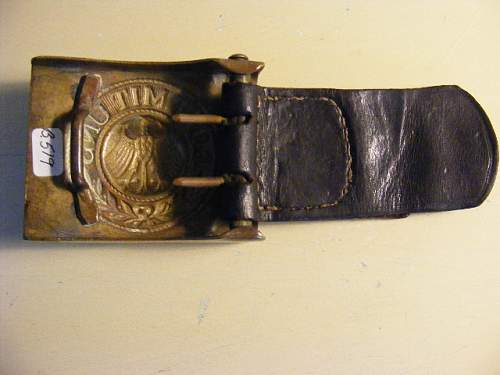 Reichscheer marine 2 piece buckle