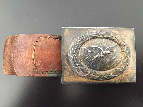 Unmarked steel buckle
