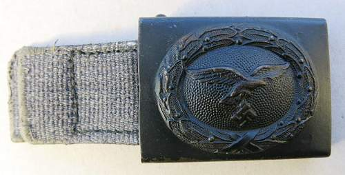 Steel blue Luftwaffe buckle with web tab